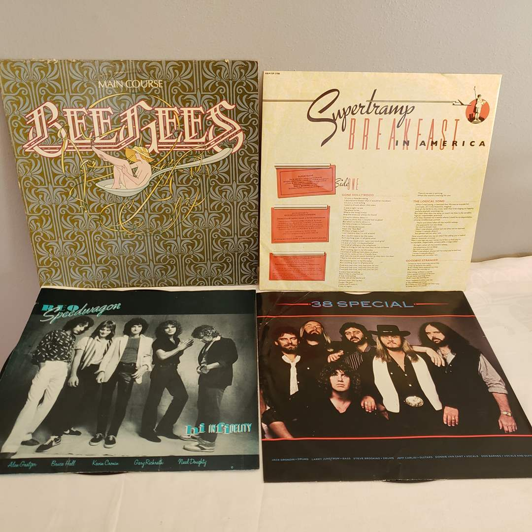 Lot# 123 - Bee Gee's * REO Speedwagon * 38 Special * Supertramp * Record Albums (main image)