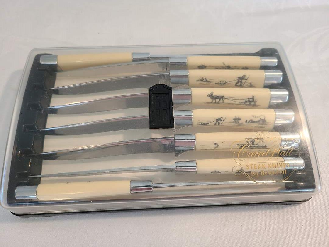 Lot# 179 - Carvel Hall Steak Knives by Briddell (main image)