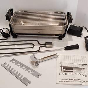 Auction Thumbnail for: Lot #134 - Farberware Smokeless Indoor Grill Model R4400