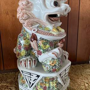 Lot #3 - Asian Ceramic Foo Dog, Hand Painted