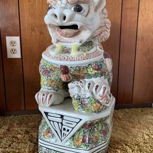 Lot #5 - Another Asian Ceramic Foo Dog