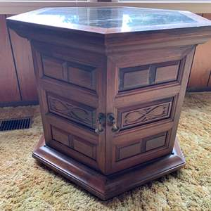 Lot #6 - Vintage Marble Top Side Table, Companion to Lot #2