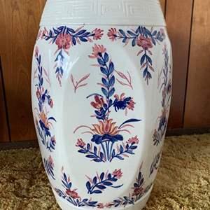 Lot #7 - Asian Decorative Ceramic Garden Seat