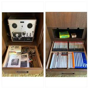 Lot #16 - Akai X-200D Three Motor Crossfield Auto Reverse Tape Deck with Extra Parts