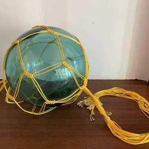 "Lot #19 - Vintage 9"" Marked Japanese Glass Buoy Fishing Float"
