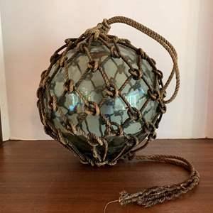 "Lot #21 - Vintage 12"" Japanese Net Buoy Glass Ball Fishing Float"