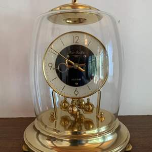 Lot #27 - Nisshin Clock Company New Master 100 Day Mantel Clock Made In Tokyo, Japan