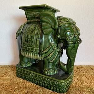 Lot #32 - Vintage Ceramic Elephant Garden Seat/Table
