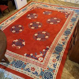Lot #33 - Beautiful Chinese Hand Knotted 100% Virgin Wool Pile Rug, 9x12