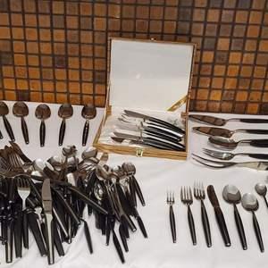 Lot #42 - Eldan Stainless Steel Flatware From Japan, Includes Serving Utensils