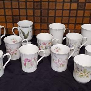 Lot #46 - English Bone China Mugs: Royal Albert, Royal Castle Duchess and Royal Devon