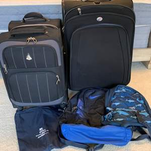 Lot #70 - Quality Luggage and Backpacks, Aerolite, Nike, Claiborne, America Tourister