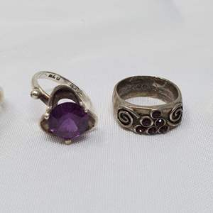 Lot #104 -  925 Sterling Rings, Various Sizes