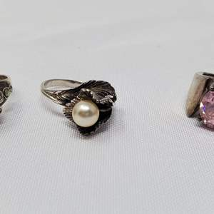 Lot #105 - 925 Sterling Rings, Various Sizes