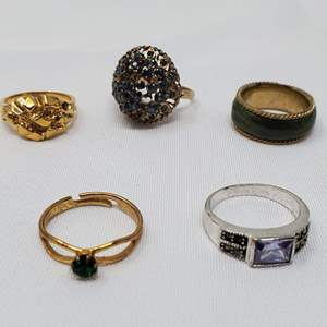 Lot #111 - Costume Rings, Various Sizes