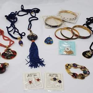 Lot #119 - Cloisonne Earrings, Bracelets and Pendants