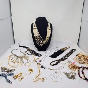 Lot #120 - Chunky Necklaces, Gold Tone, Shells and More