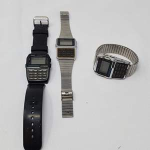 Lot #123 - Vintage Casio Data Bank Watches: 150 and 300
