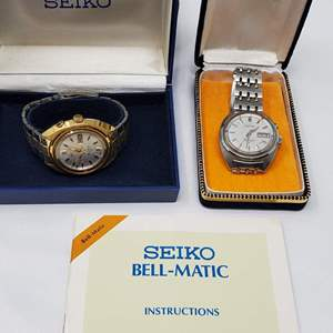 Lot #126 - NIB Men's Seiko Bell-Matic Watch and Used Bell-Matic Watch