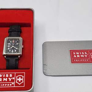Lot #127 - New in Box, Swiss Army Equipped Watch with Illuminated Dials