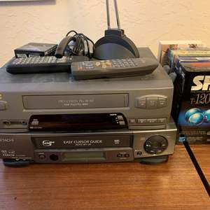 Lot #136 - JVC and Hitachi VCR's, Hitachi Model #FX6410 with Remotes and More