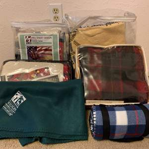 Lot #138 - Pendleton Wool Blanket and Several Other Throw Blankets, Sierra Club, Mill Street Design