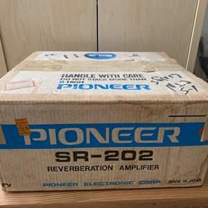 Lot #157 - Pioneer SR-202 Reverberation Amplifier in Original Box