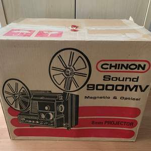 Lot #159 - Chinon Sound 9000MV Magnetic and Optical 8mm Projector in Original Box
