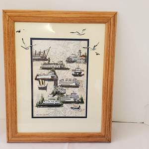 Lot #179 - Signed and Numbered Betty Festuto Washington Lighthouses Print