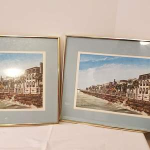 Lot #180 - Two Signed and Numbered Prints of Charleston, So. Carolina