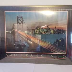 Lot #183 - San Franciso, CA Poster Print Framed