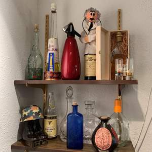 Lot #184 - Unique and Vintage Liquor Bottles (Alcohol Is Gift From Homeowner)