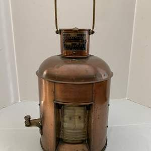 Lot #210 - Vintage Nippon Sento Co. LTD Signal Lamp, Copper and Brass
