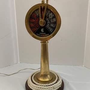 Lot #211 - Chadburn's Liverpool and London Brass Ship Telegraph Light