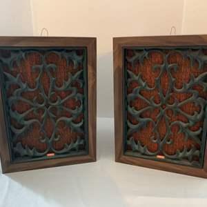 Lot #222 - Vintage Coral BX-201 2 Way Bookshelf Type Speakers