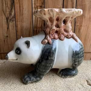 Lot #233 - Sweet Ceramic Panda Garden Stool/Table