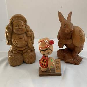 Lot #234 - Carved Wood Decorative Pieces