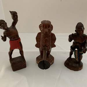 Lot #235 - Carved Wood Ethnic Pieces