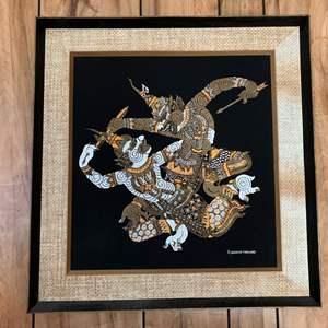 Lot #237 - Thai Warrior Framed Art Work