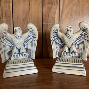 """Lot #244 - Set of Beautiful Eagle Bookends 7""""h"""