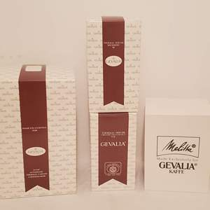 Lot #274 - Gevalila 8 Cup Coffee Maker, Two Thermal Servers and Melitta Coffee Maker