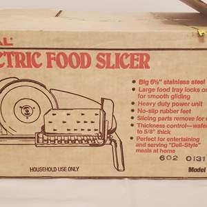 Lot #275 - Rival Electric Food Slicer Model 1101E