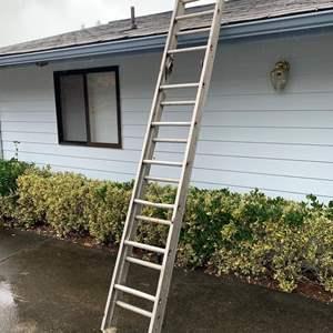 Lot #299 -  Galvanized Extension Ladder
