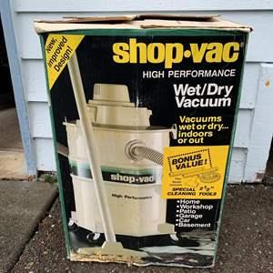 Lot #305 - Shop-Vac High Performance Wet/Dry Vacuum In Box
