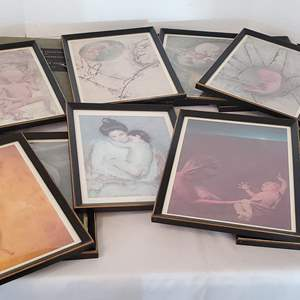 Lot #315 - Vintage Framed Illustrations of Reproduction System from Doctor's Office
