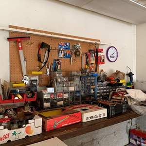Lot #329 - Huge Selection of Everything You Need For Your Garage/Work Shop, 40 Piece Socket Set, Cord Reel, Brazing Torch