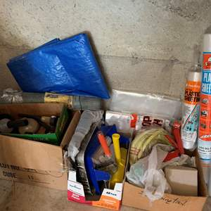 Lot #331 - Rolls of Plastic  Sheeting, Tarp and Home Improvement Supplies