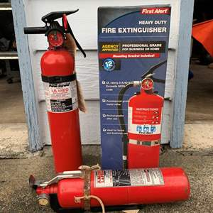 Lot #333 - First Alert Heavy Duty Fire Extinguisher in Box, La France Fire Extinguisher and  Fire Away Extinguisher