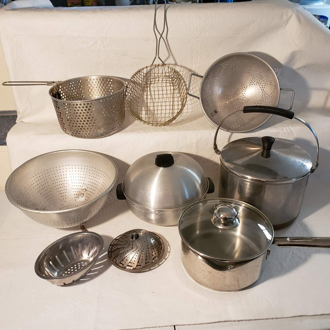 Lot#76 - Metal Kitchen Mixing and Making Supplies * Wear Ever  (main image)