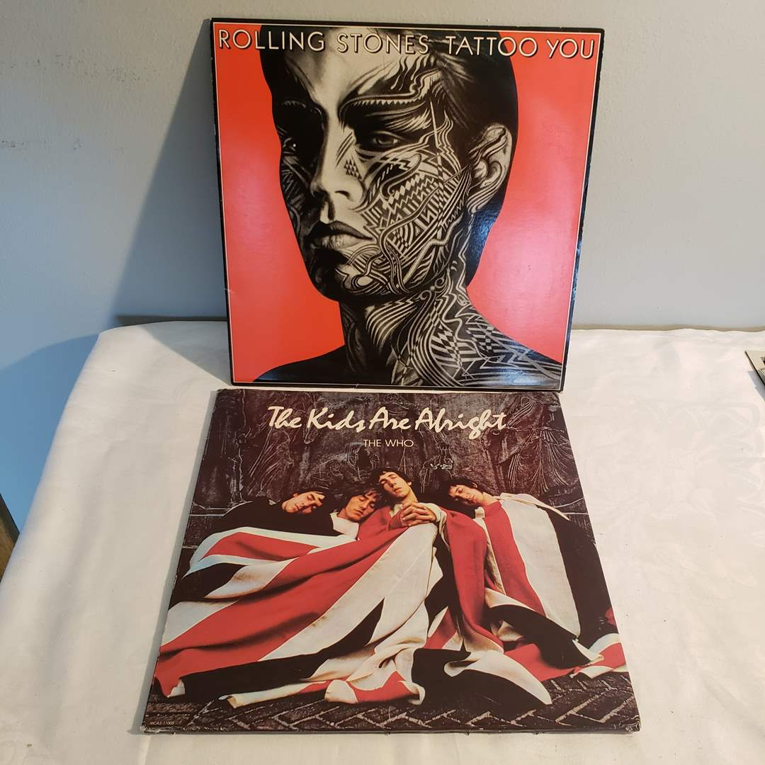 Lot#86 - Rolling Stones and The Who Albums (main image)